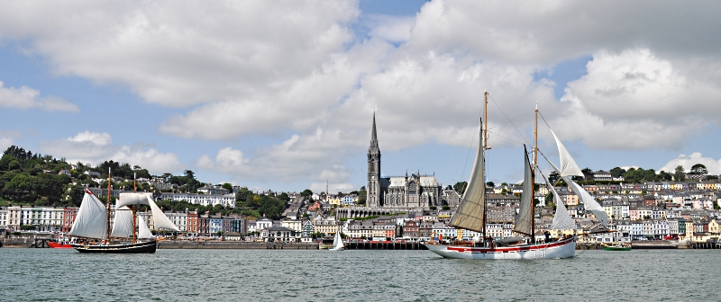 View of Cobh/Queenstown from water
